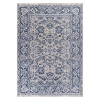 KAS Rugs Retreat Kashan Framed Floral Rug