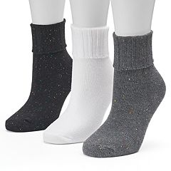 Women's SONOMA Goods for Life™ 3 pkTurn Cuff Crew Socks