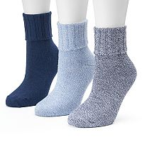 Women's SONOMA Goods for Life™ 3-pk. Marled Turn Cuff Crew Socks