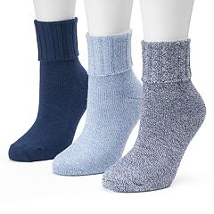 Women's SONOMA Goods for Life™ 3 pkMarled Turn Cuff Crew Socks