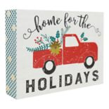 "Belle Maison ""Home For The Holidays"" Box Sign Art"