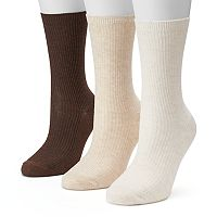 Women's SONOMA Goods for Life™ Neutral Fine Ribbed Crew Socks