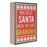 """Belle Maison """"Grandma"""" Christmas Box Sign Art"""