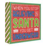 """Belle Maison """"Believing In Santa"""" Christmas Box Sign Art"""