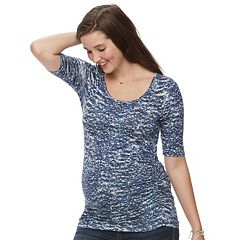 Maternity a:glow Scoopneck Ruched Tee