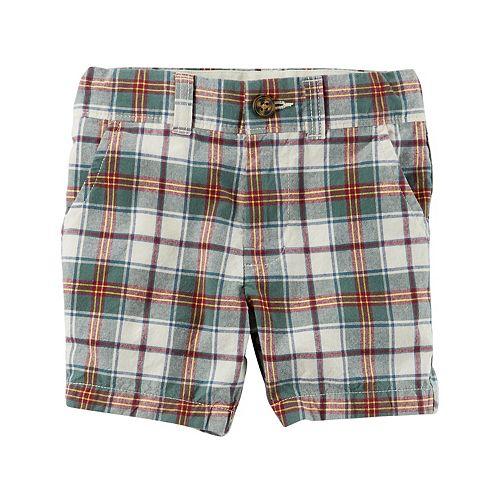 Toddler Boy Carter's Plaid Flat-Front Shorts