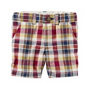 Toddler Boy Carter's Plaid Flat-Front Shorts