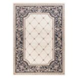 KAS Rugs Avalon Courtyard Framed Floral Rug
