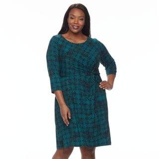 Plus Size Dana Buchman Waist Twist Dress