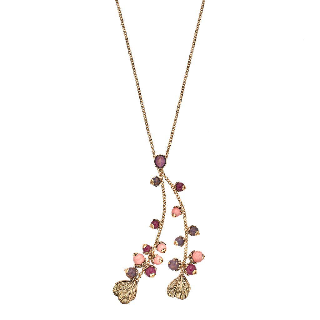 Dana Buchman Beaded Tulip Charm Y Necklace