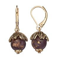 Dana Buchman Beaded Tulip Nickel Free Drop Earrings
