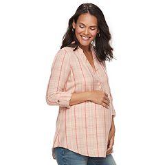 Maternity a:glow Plaid Flannel Tunic