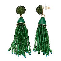 Dana Buchman Seed Bead Tassel Nickel Free Drop Earrings
