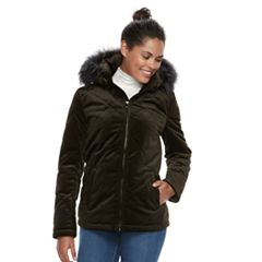 Women's BNCI Hooded Velvet Puffer Jacket