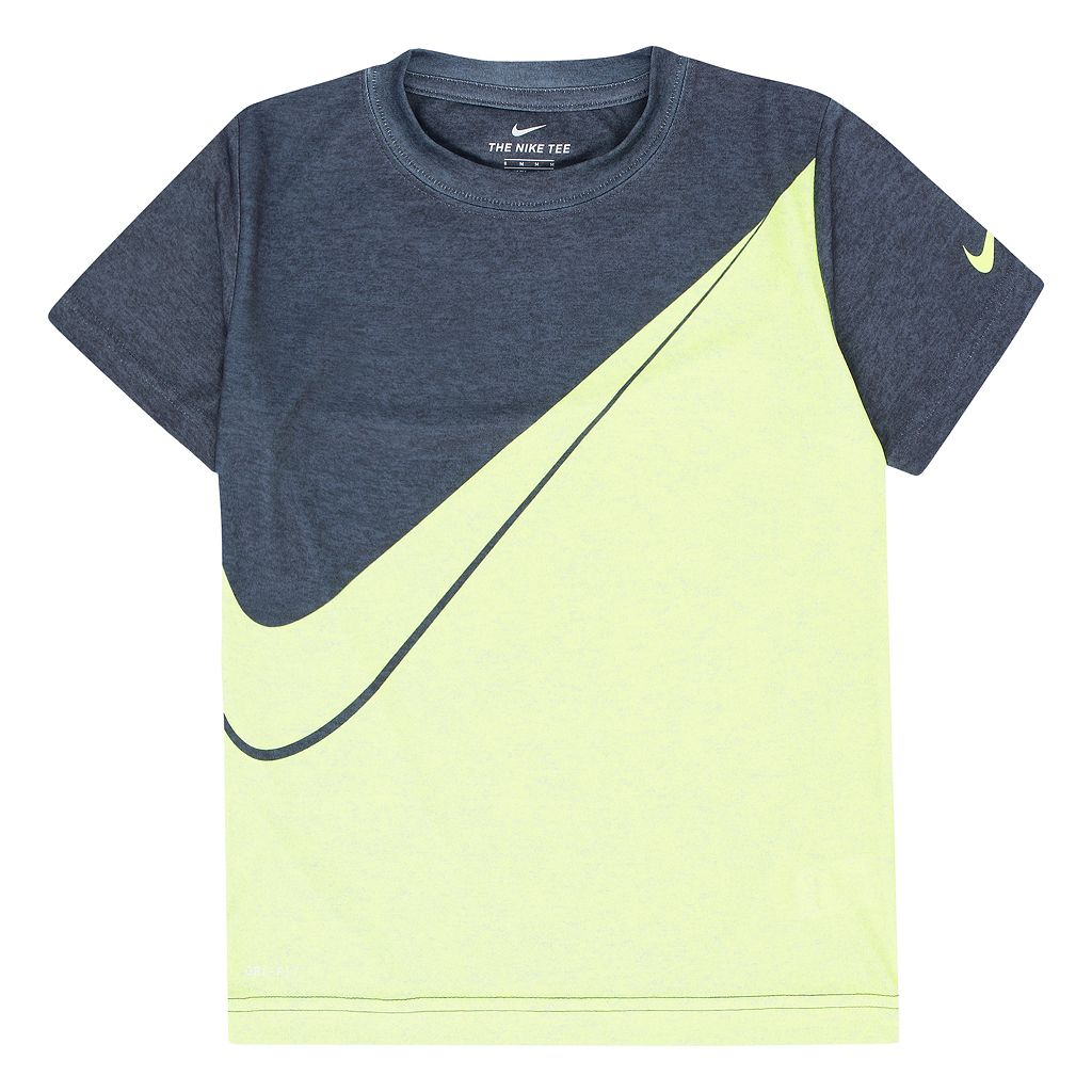 Boys 4-7 Nike Diagonal Colorblock Athletic Dri-FIT Tee