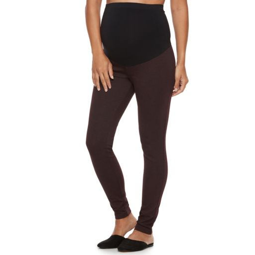 Maternity a:glow Full Belly Panel Ponte Skinny Pants