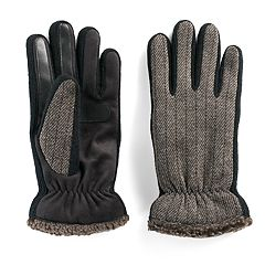 Men's isotoner Woven smarTouch® Gloves