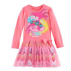 Toddler Girl DreamWorks Trolls Poppy 'Put Your Hair In The Air' Dress