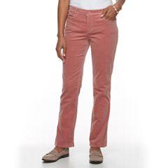 Women's Croft & Barrow® Tummy Slimming Boot-Cut Corduroy Pants