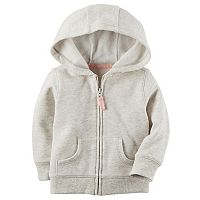 Baby Girl Carter's Hooded Fleece Cardigan