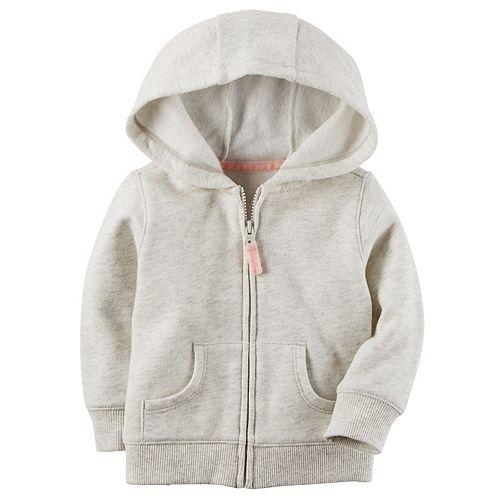 Baby Girl Carter's Hooded Fleece Cardigan