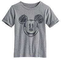 Disney's Mickey Mouse Boys 4-10 Roll-Sleeved Softest Tee by Jumping Beans®