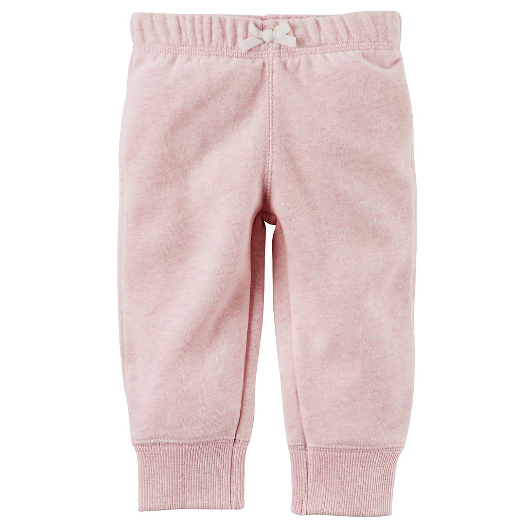 Baby Girl Carter's Solid Fleece Pants