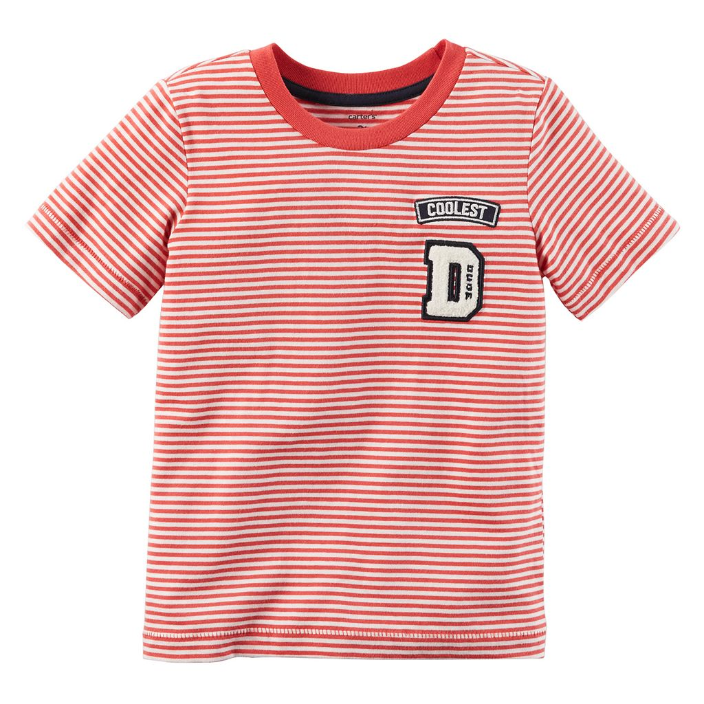 Toddler Boy Carter's Striped Patch Tee