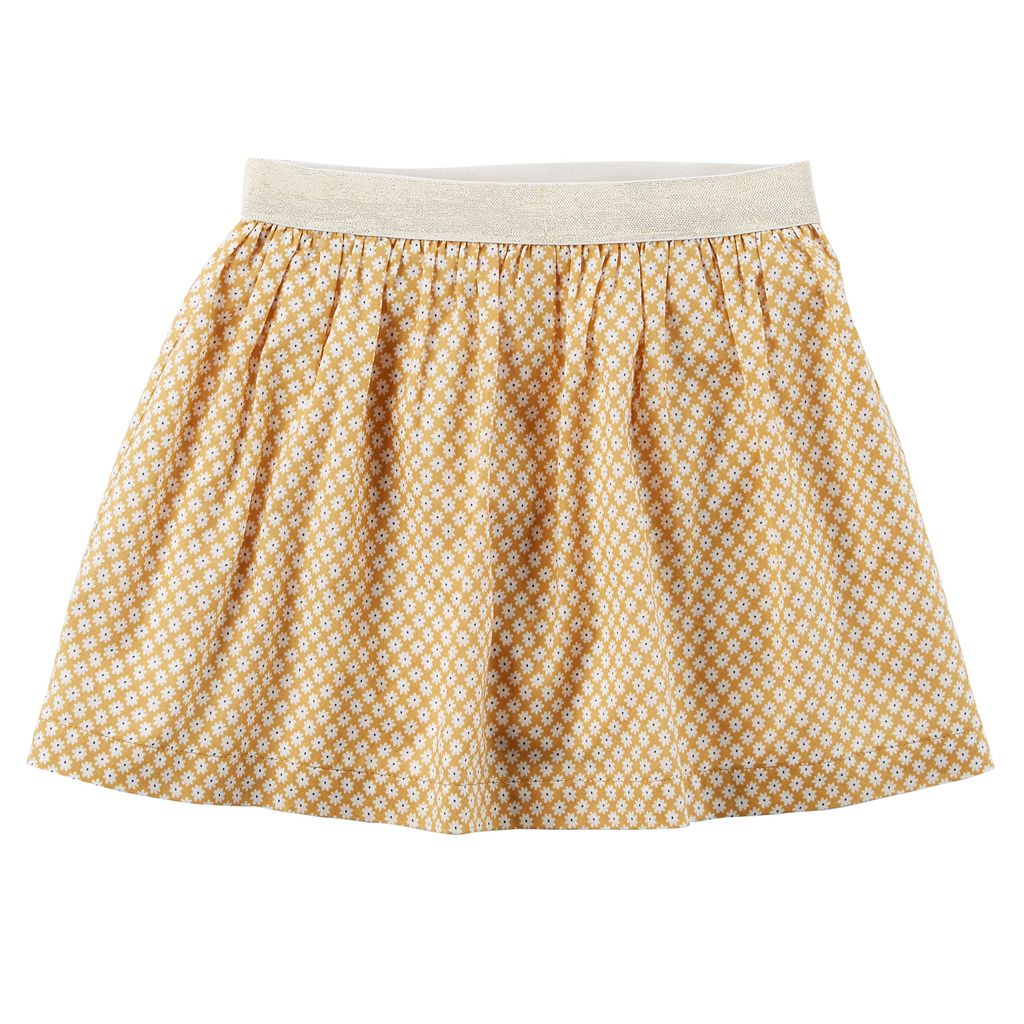 Toddler Girl Carter's Floral Metallic Skirt