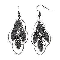 Glittery Marquise Nickel Free Kite Earrings