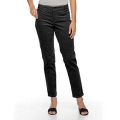 Women's Croft & Barrow® Tummy-Slimming Straight-Leg Corduroy Pants