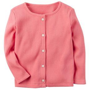 Toddler Girl Carter's Ribbed Cardigan
