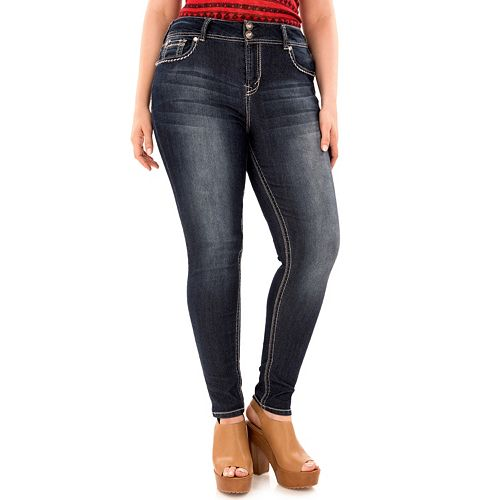 cdfb78deacc Juniors  Plus Size WallFlower Luscious Curvy Skinny Jeans