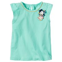 Toddler Girl Carter's Flutter Sleeve Rosette Tee