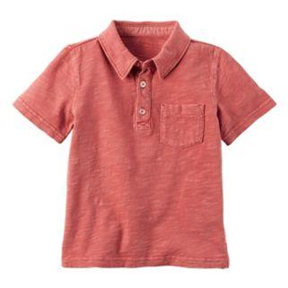 Toddler Boy Carter's Short-Sleeved Slubbed Polo