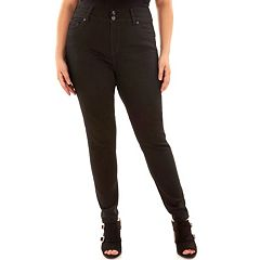 Juniors' Plus Size Wallflower Luscious Embellished Curvy Fit Skinny Jeans