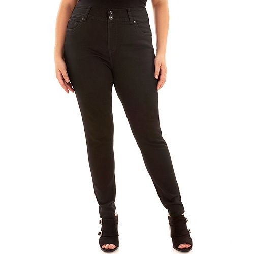f825e5801be Juniors  Plus Size Wallflower Luscious Embellished Curvy Fit Skinny Jeans