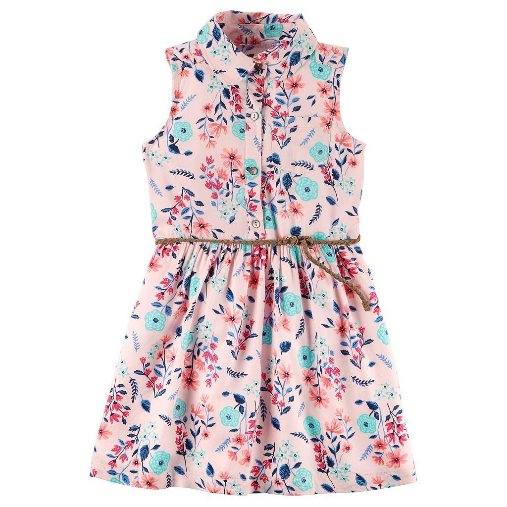 Toddler Girl Carter's Floral Shirtdress