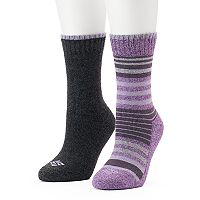 Women's Columbia 2-pk. Striped Cushioned Crew Socks