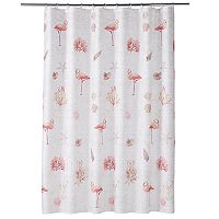 Saturday Knight, Ltd. Coral Gables Flamingo Shower Curtain