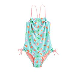 Girls 7-16 SO® Flamingo Print One-Piece Swimsuit