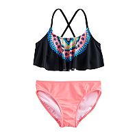 Girls 7-16 SO® Tribal Print 2-pc. Swimsuit Set