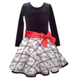 Girls 4-6x Jessica Ann Long Sleeve Velvet Dress