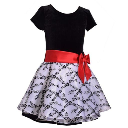 Girls 4-6x Jessica Ann Short Sleeve Velvet Dress