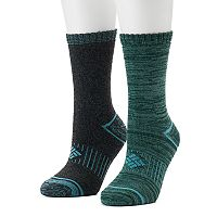 Women's Columbia 2-pk. Space-Dyed Cushioned Crew Socks