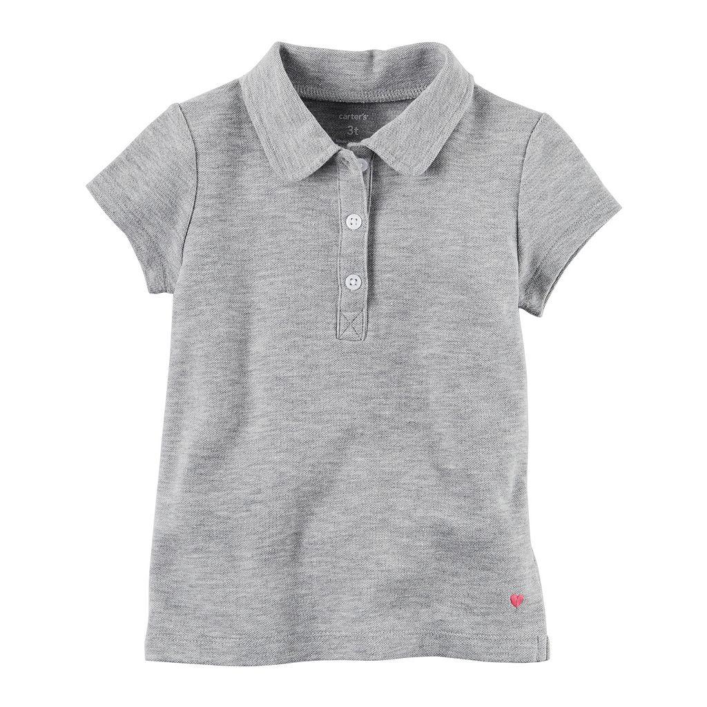 Toddler Girl Carter's Uniform Pique Polo Shirt
