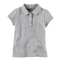 Toddler Girl Carter's Uniform Pique Polo Shirt