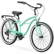 Women's sixthreezero Around the Block 26-Inch Beach Cruiser Bike with Rear Rack