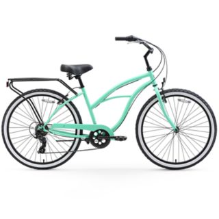 Women's sixthreezero Around the Block 26-Inch Beach Cruiser Bike with Rear Rack