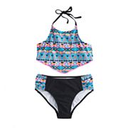 Girls 7-16 SO® Tribal Print 2 pc Swimsuit Set
